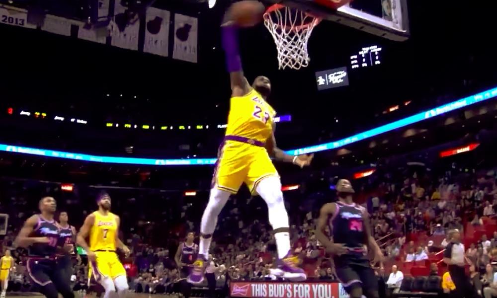 King James tykitti yli 50 pistettä ottelussa Miami Heatia vastaan.