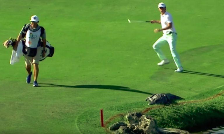Alligaattori eksyi golf-kentälle PGA-kiertueella: kahdelta krokotiilin huomanneelta golfarilta nähtiin totaalisen erilaiset reaktiot.
