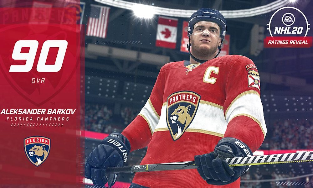 EA Sports julkaisi NHL 20-pelin kokonaisuuksia: mukana Top 20:ssä suomalaispelaajista ovat Aleksander Barkov ja Mikko Rantanen.
