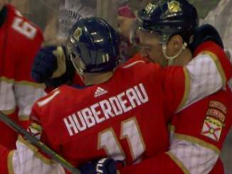 Jonathan Huberdeau ohitti Olli Jokisen Florida Panthersin kaikkien aikojen parhaana pistemiehenä.