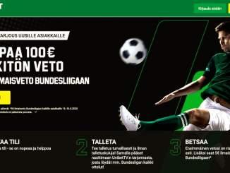 Unibet tarjoaa: 5 € ilmaisveto Bundesliigaan sekä uusille että vanhoille asiakkaille!