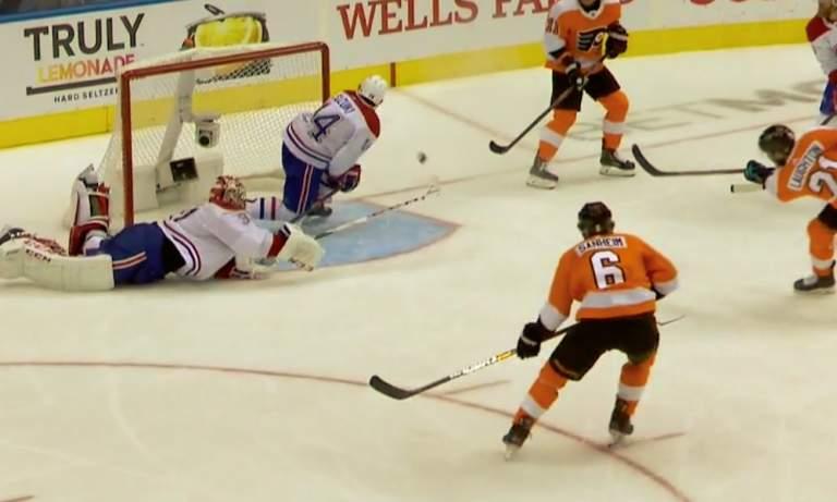 Montreal Canadiensin Carey Pricelta sairas mailatorjunta pudotuspeliottelussa Philadelphia Flyersia vastaan!