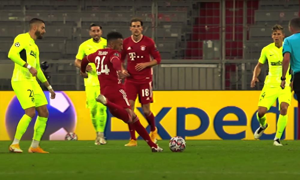 Bayernin Tolisso laukoi huikean maalin Atlético Madridin verkkoon Mestarien liigassa.