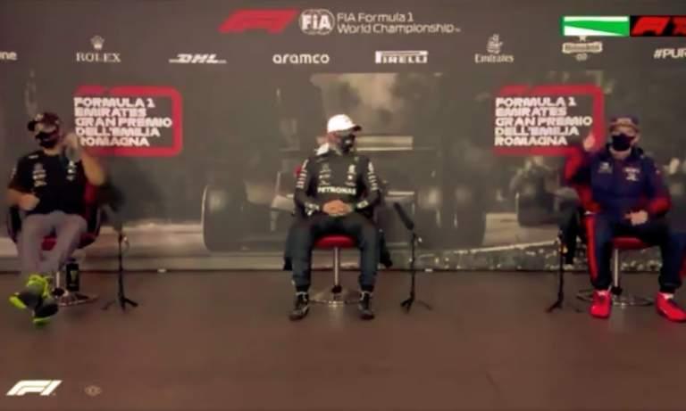 FIA:n esittelijä oletti Lewis Hamiltonin ajavan paalulle ja kuulutti tämän nimen, vaikka paalulle ajoi todellisuudessa Valtteri Bottas.