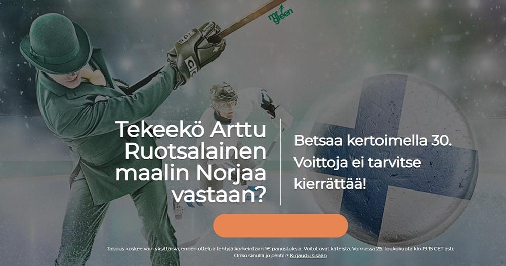 Ruotsalaisen osumalle Norjaa vastaan tarjolla korotettua kerrointa!