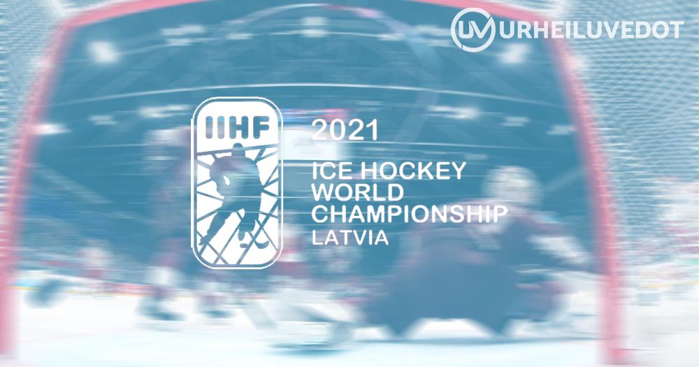 Jääkiekon MM-kisat 2021 vihjekuva urheiluvedot
