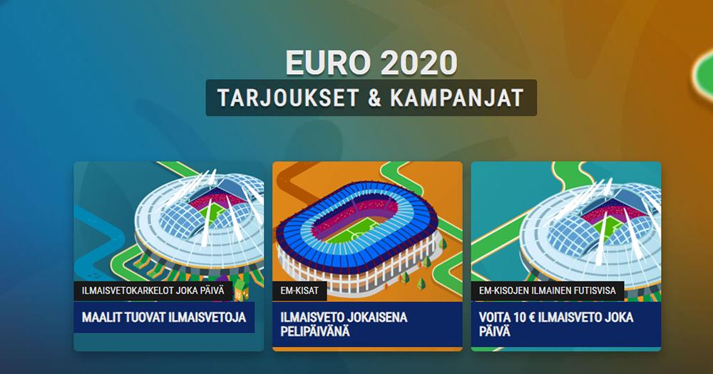 Kolme erilaista kampanjaa tarjolla tuleviin Jalkapallon EM-kisoihin!