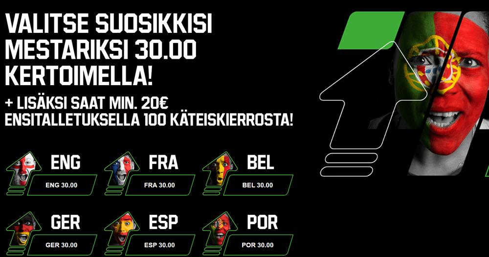 Tuleviin Jalkapallon EM-kisoihin korotettu kerroin kuudelle mestaruussuosikille!